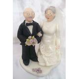 Abuelos Al Altar En Porcelana Fria Para Tu Torta