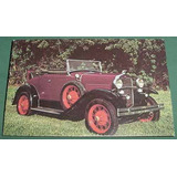 Automobilia Autos Coches Postal Ford A Modelo 1931 Roadster