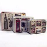 3 Caja Alhajero Vintage Inglaterra Estuche Coleccion Metal