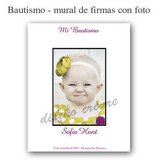 Cartel Mural De Firmas Bautismo Cumpleaños - Con Tu Foto