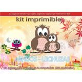 Kit Imprimible Candy Bar Bhuos Lechuzas Tarjetas Cumple Y Ma