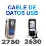 Cable Micro Usb Nokia 2760 2730 2630 1200 + Cd