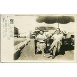 Foto Postal Antigua Mar Del Plata 1940 Bristol Sepia