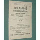 Antiguo Catalogo Desarmaderos De Vehículos Autos Coches