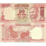Billete India Ghandi 20 Rupias Año 2011 Sin Circular