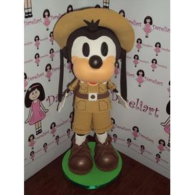 Boneco Pateta Safari Em Eva 3d 15 Cm - Mickey