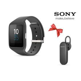 Sony Smartwatch 3 Swr50 Negro + Mbh20 Negro Envio Gratis
