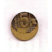 Moneda 5 Ctvos. Torito Con Error De Acuñación
