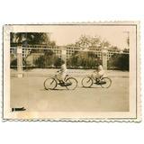 Nenas En Bici Foto Antigua C/1920