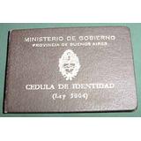 Cedula Identidad Buenos Aires 1072235 Ministerio Gobierno 58
