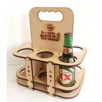 Six Pack Porta Cervezas Madera Mdf