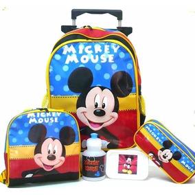Kit Mochila Mickey Mouse Color Rodinhas G Lancheira - Boleto