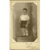 Nene Con Pato Peluche Pou Estudio Portafoto Antiguo Juguete