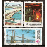 Argentina 982/4 Gj 1659/1 Infraestructura Nacional Año 1974