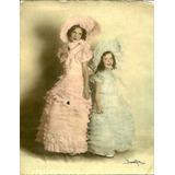 Damas Antiguas 1933 Foto Coloreada Grande Disfraz