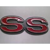Insignia Chevy Ss Roja Lateral Guardabarro Trasero Plastica