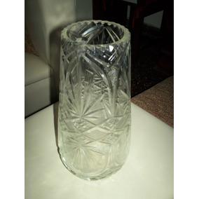Florero Cristal Tallado Impecable Hoy 350