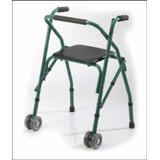 Andador Ortopedico Plegable De Aluminio Con Asiento Y Ruedas