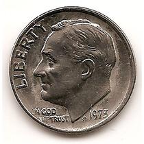 Moneda Estados Unidos One 1 Dime 10 Centavos Año 1973