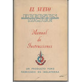 Manual De Instrucciones / Tractor Fordson Major 1952