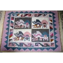 Tapiz - Alfombra - Artesania Peru (cultura Paracas)