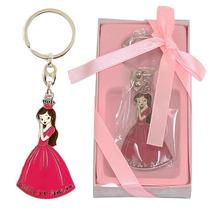 Chaveiro Lembrança 15 Anos Debutante Em Metal Rosa Escuro