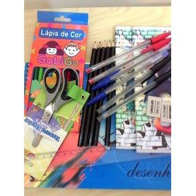 Kit Material Escolar - 10 Ítens - Preço, Sem Igual