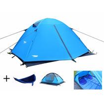 Tienda De Acampar Luxe Tempo Enhanced 2 Carpas Azul