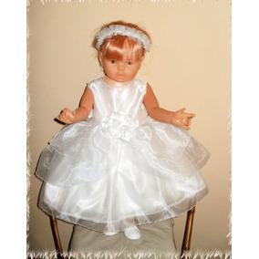 Vestido Bautismo* Cortejo *comunión*15 Años*nena Beba*fiesta