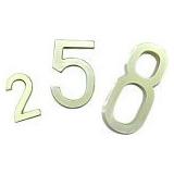 Números Y Letras De Bronce. Para Carteles Y Puertas 10.8 Cm.