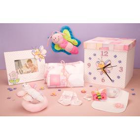 Regalo Bebe, Ajuar Nacimiento En Caja Reloj P/nena O Varón