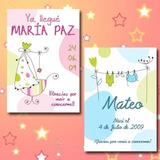 Tarjeta Souvenir Nacimiento Bautismo Super Delicadas!!!