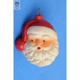 Cabeza Papa Noel Bola Arbolito Navidad Retro Vintage Antiguo