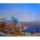 Arte & Decoración Grass - Paisaje (pintura Naïve) Tubo Envío
