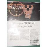 Publicidad Renault Torino Ika - Modelo Ts Tablero Siempre