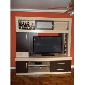 Estante Para Sala De Tv (maple Com Tabaco) Nova!!!
