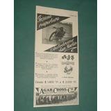 Publicidad Antigua Apertura Autodromo San Martin Agar Cross