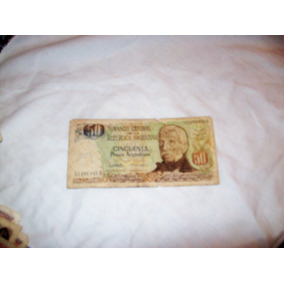 Aurojul-billete 50 Pesos Banco Central Republica Argentin