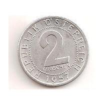 Austria 2 Groschen 1957