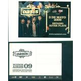 Postal Banda Musica Oasis Estadio River 2009
