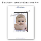 Cartel Mural De Firmas Bautiismo Cumpleaños - Con Tu Foto