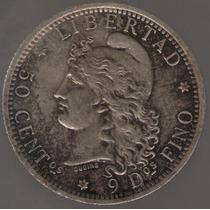 Argentina 50 Centavos De Patacon 1882 Plata S/c