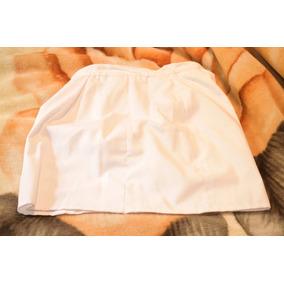 Pollera Blanca De Vestir Manufacturada