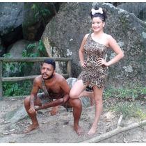 Fantasia Bambam Ou Pedrita Adulto Completa Carnaval