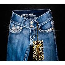 Pantalon Jeans Mezclilla Strech Entubado Talla 5 C/cristales
