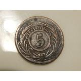 Moneda 5 Cts- Cinquiño - Uruguay 1854