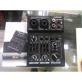 Mini Mixer Consola S Canales Para Dos Microfonos