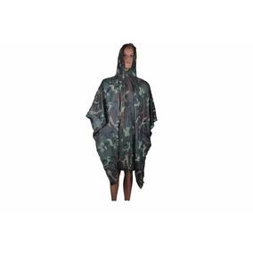 Capa De Chuva Poncho Impermeável Echolife Camuflado Camping
