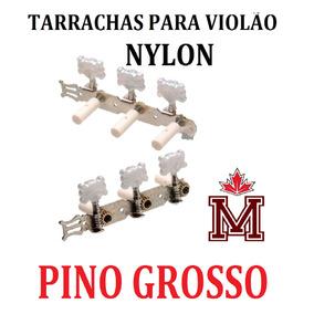 Tarraxa Tarracha Violão Nylon Pino Grosso Cromado Oferta !!