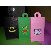 Bolsitas De Papel Para Cumpleaños Sapo Pepe, Kity, Batman